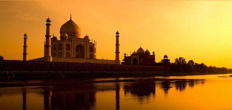 india by sunset